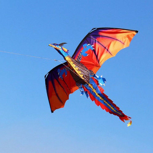 3D Dragon 100M Kite Single Line With Tail Kites Outdoor Fun Toy Kite Family Outdoor Sports Toy Children Kids NEW