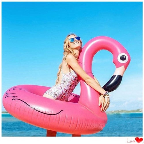 Ins Hot Heart Giant Swimming Ring Flamingo Unicorn Inflatable Pool Float Swan Pineapple Floats Toucan Peacock Water Toys