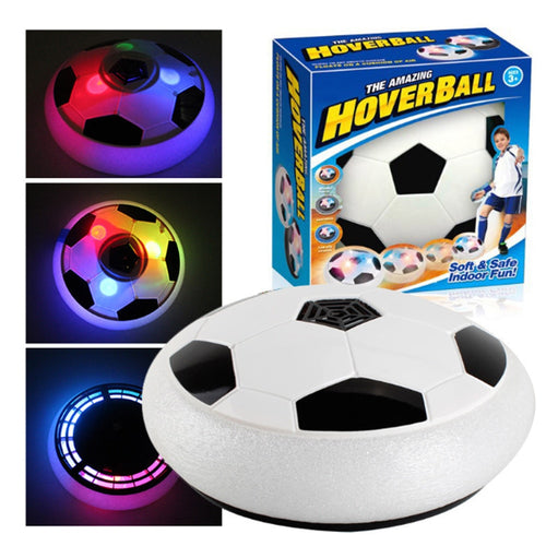 18cm Air Power Soccer Disc Indoor Football Toy Colorful Music Light Flashing Ball Toys kids sport game Kid's Educational Gift