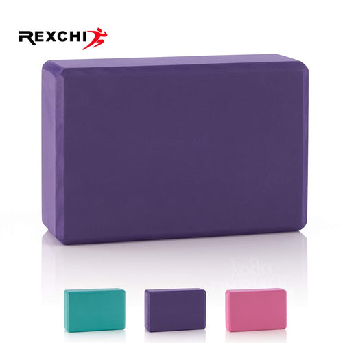 REXCHI Gym Fitness EVA Yoga Block Colorful Foam Block Brick for Crossfit Exercise Workout Training Bodybuilding Equipment