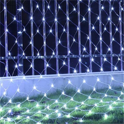 3X2M or 1.5X1.5M Net Mesh String Light Garland Twinkle Star Outdoor Garden Wedding Party Window Curtain Fairy Holiday Decor