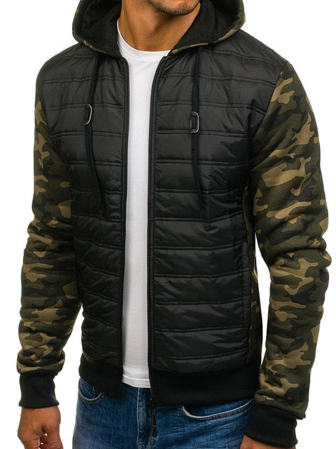 ZOGAA Hoodie Jacket Coat High Quality Casual Parka Men Winter Jacket Plus Size Camouflage Full Sleeve Patchwork Men Clothes 3XL