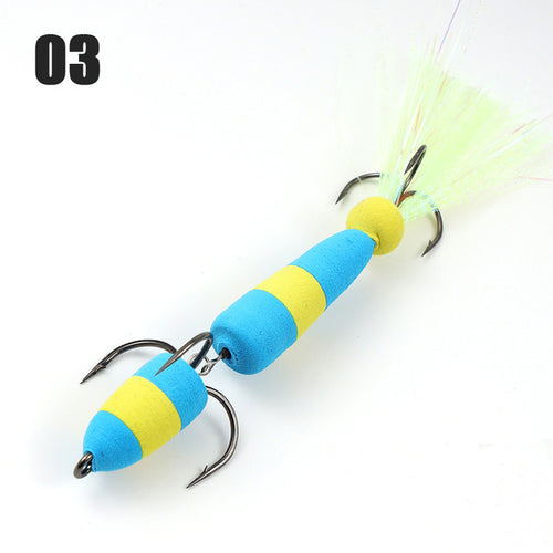 W.P.E Brand MANDULA Size L 1 pcs Fishing Lure Swim Bait Multicolor Bass Lure Insect bait Soft Fishing Lure Pesca Fishing Wobbler
