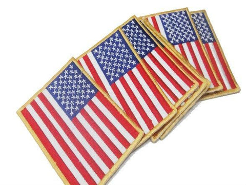USA American Flag Iron/ Sew On Patches