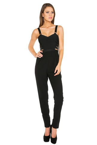 Kira Stylish Black Jumpsuit