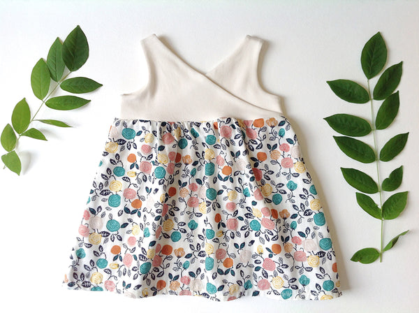 the Organic Garden Dress in Cream and Fresh Floral