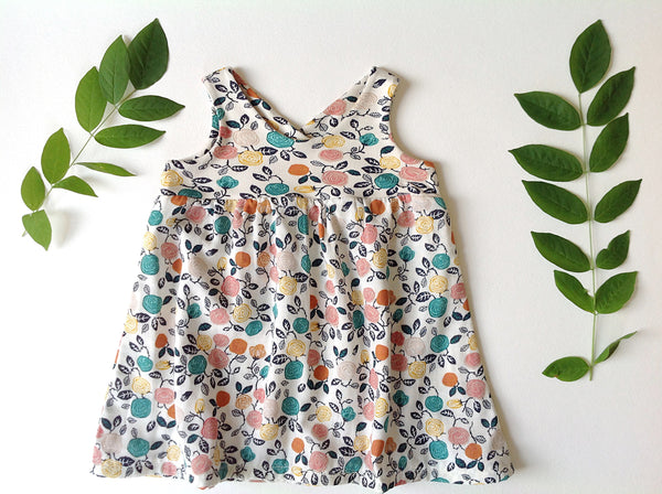 the Organic Garden Dress in Fresh Floral