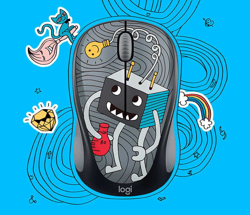DOODLE COLLECTION M238 Wireless Mouse - Benson Computers