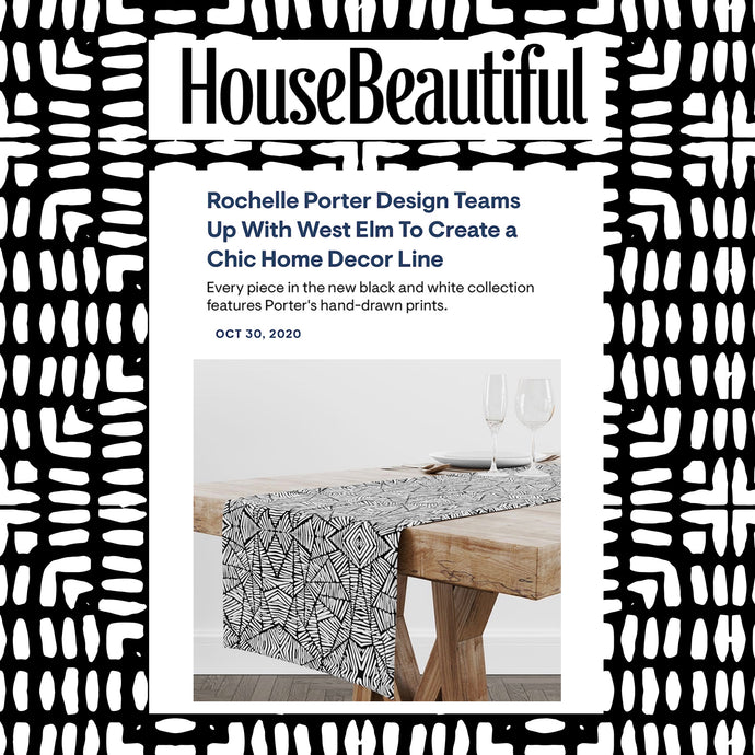 House Beautiful - Rochelle Porter Design Teams Up With West Elm