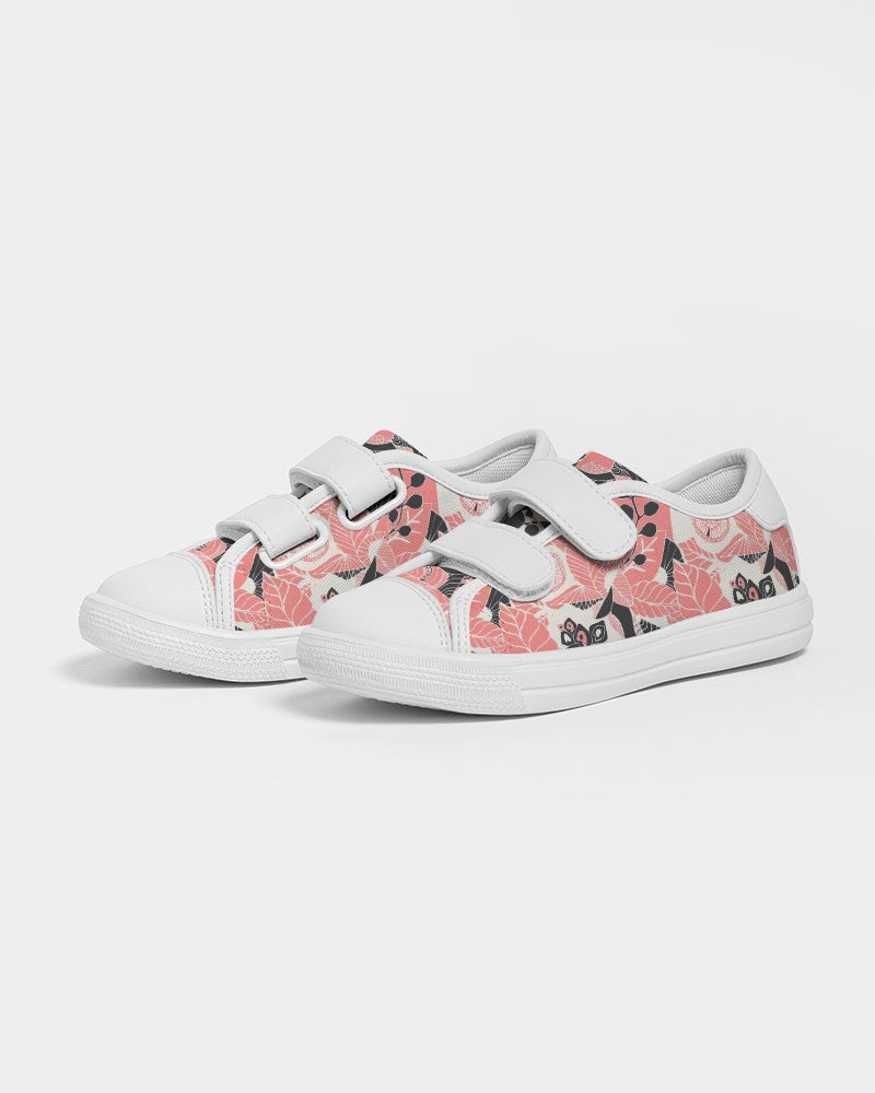Coral Bloom Kids Velcro Sneaker