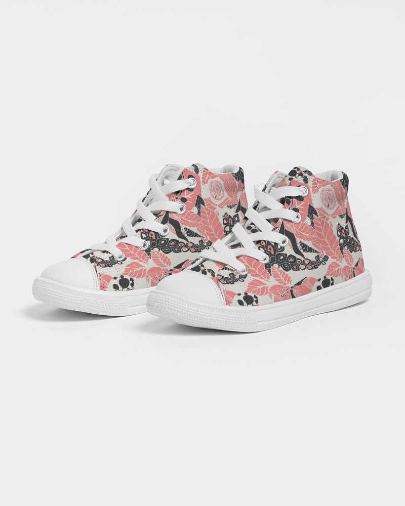 Coral Bloom Kids Hightop Sneaker