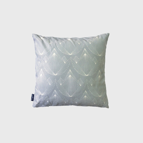 Gray Lotus Pillow Cover