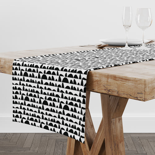 Humpday White Table Runner