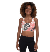 Coral Bloom Sports bra