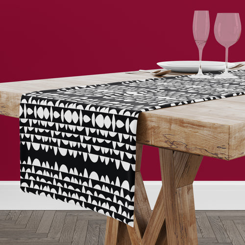 Humpday Black Table Runner