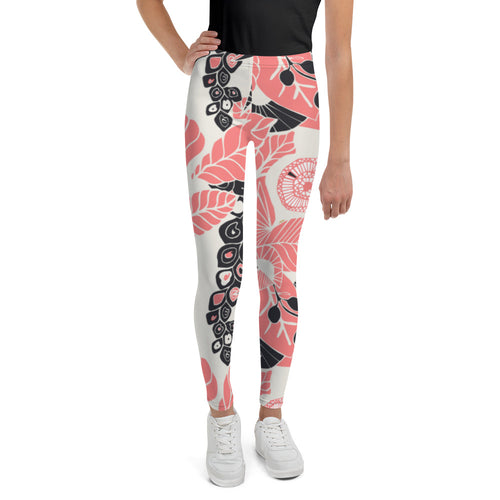 Coral Bloom Youth Leggings