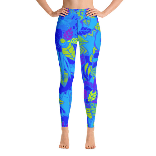 Blue Garden Leggings