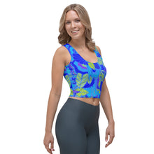 Blue Garden Crop Top