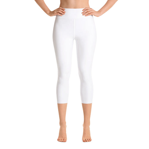 So Basic White Capri Leggings