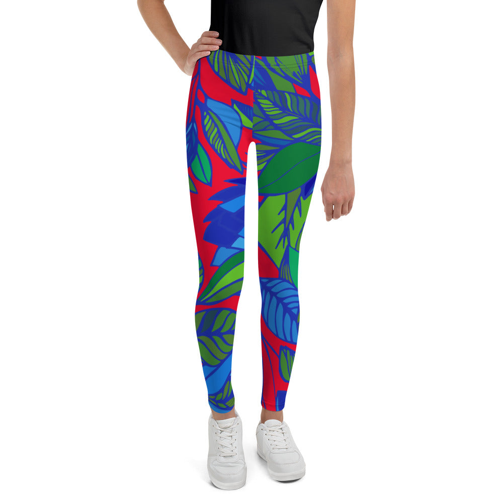 Red Lala Youth Leggings