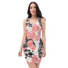 Coral Bloom Body Con Dress