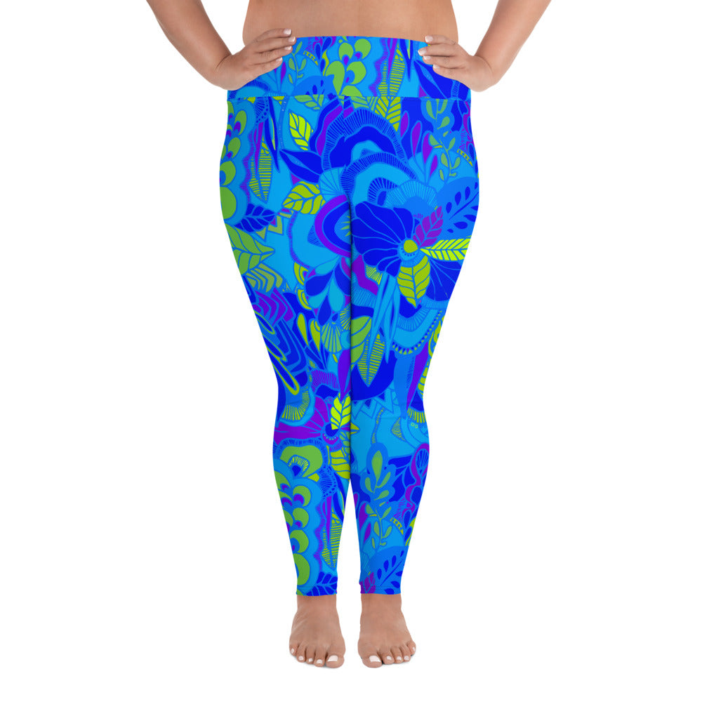 Blue Garden Plus Size Leggings