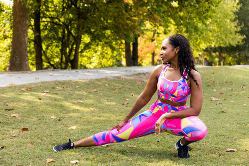 Pink Riot Capri Leggings