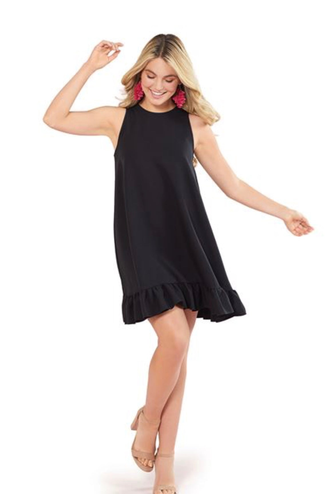 Mellie Swing Dress-Black