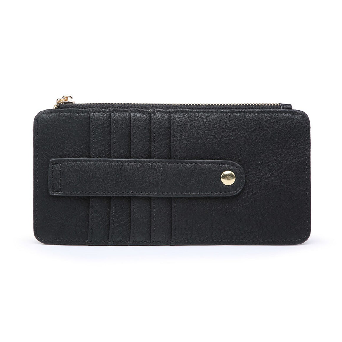 Saige Slim Card Holder Wallet-Black