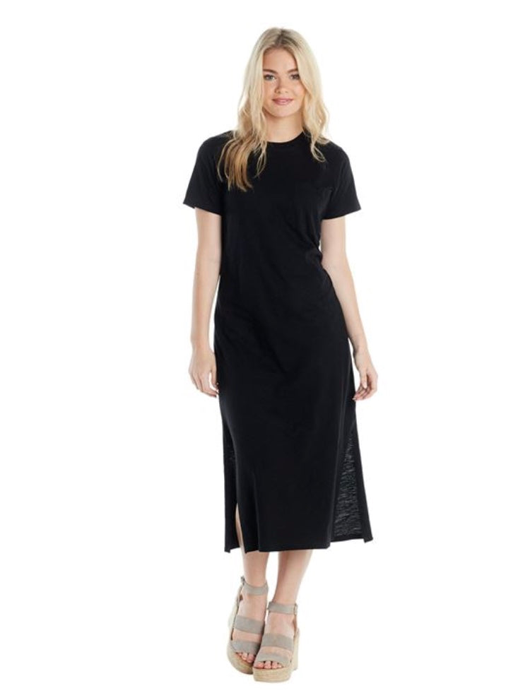 Long T-Shirt Dress-Black