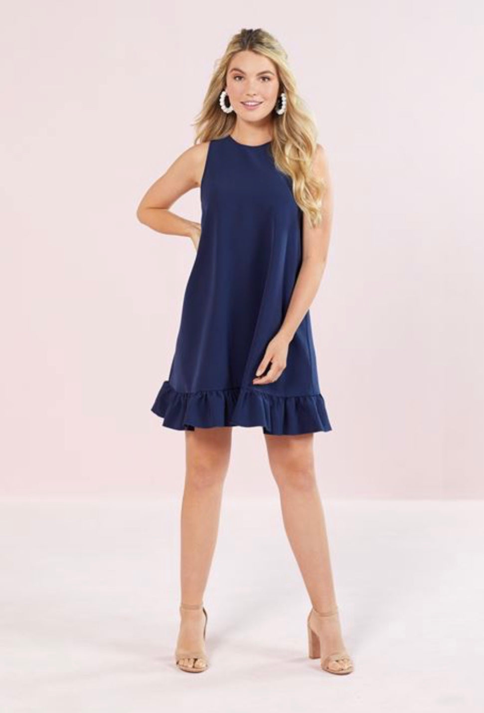 Mellie Swing Dress-Blue