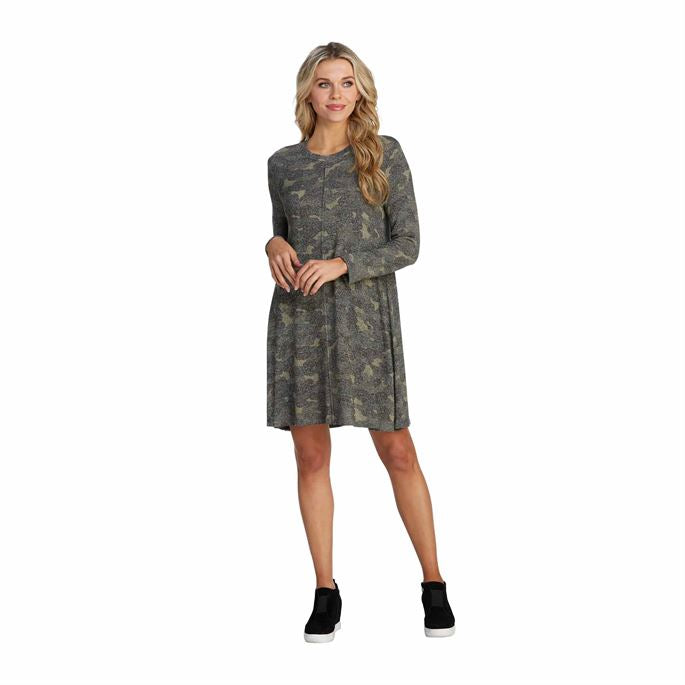 Jillie Swing Dress- Camo