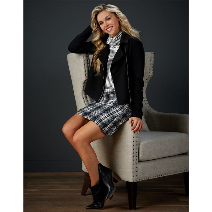 Margie Plaid Black Skirt-Mud Pie