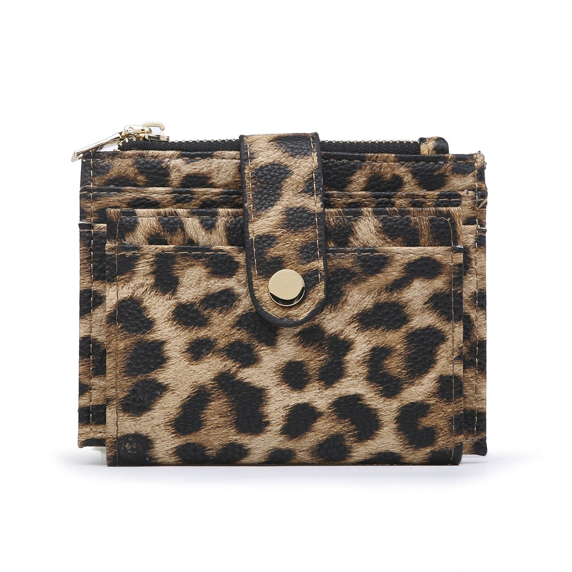 Sam Mini Snap Wallet-Cheetah