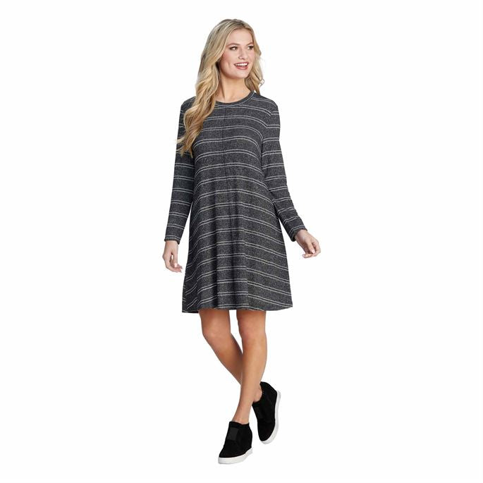 Jillie Swing Dress Gray Stripped