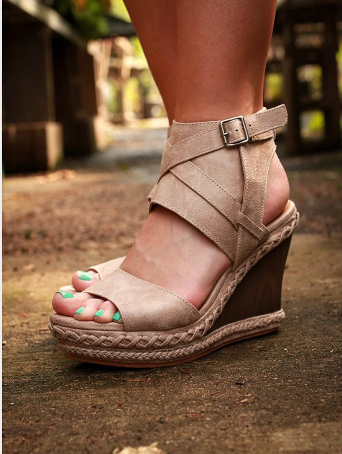 Funky Town Wedge-Cream