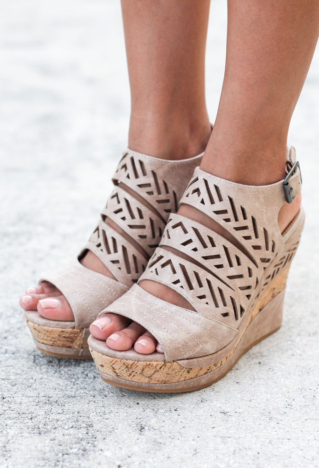 Isn't She Lovely Wedge-Cream