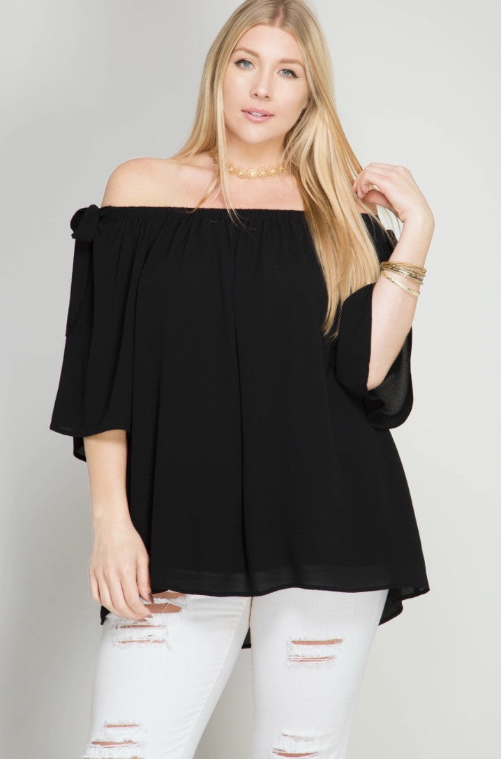 Downtown Anyone? Top-Black