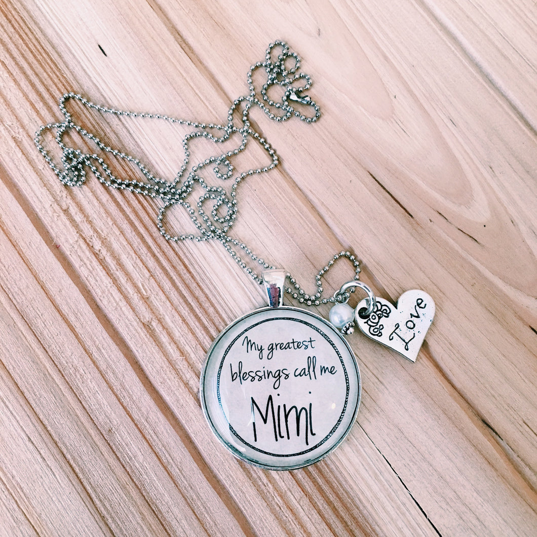 Custom Grandmother Name Necklace