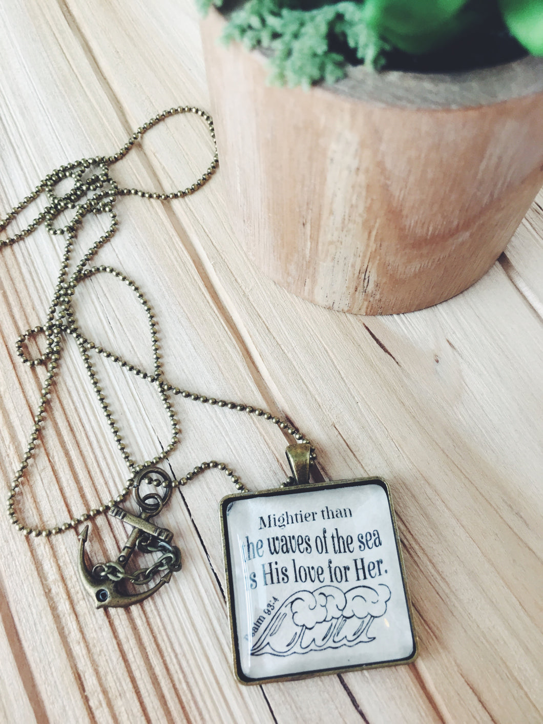 Mightier than Waves of the Sea, Psalm 93:4 Necklace