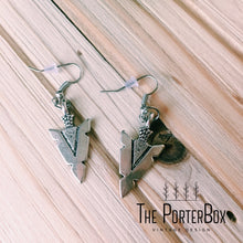 Arrow Earrings, Brass or Silver