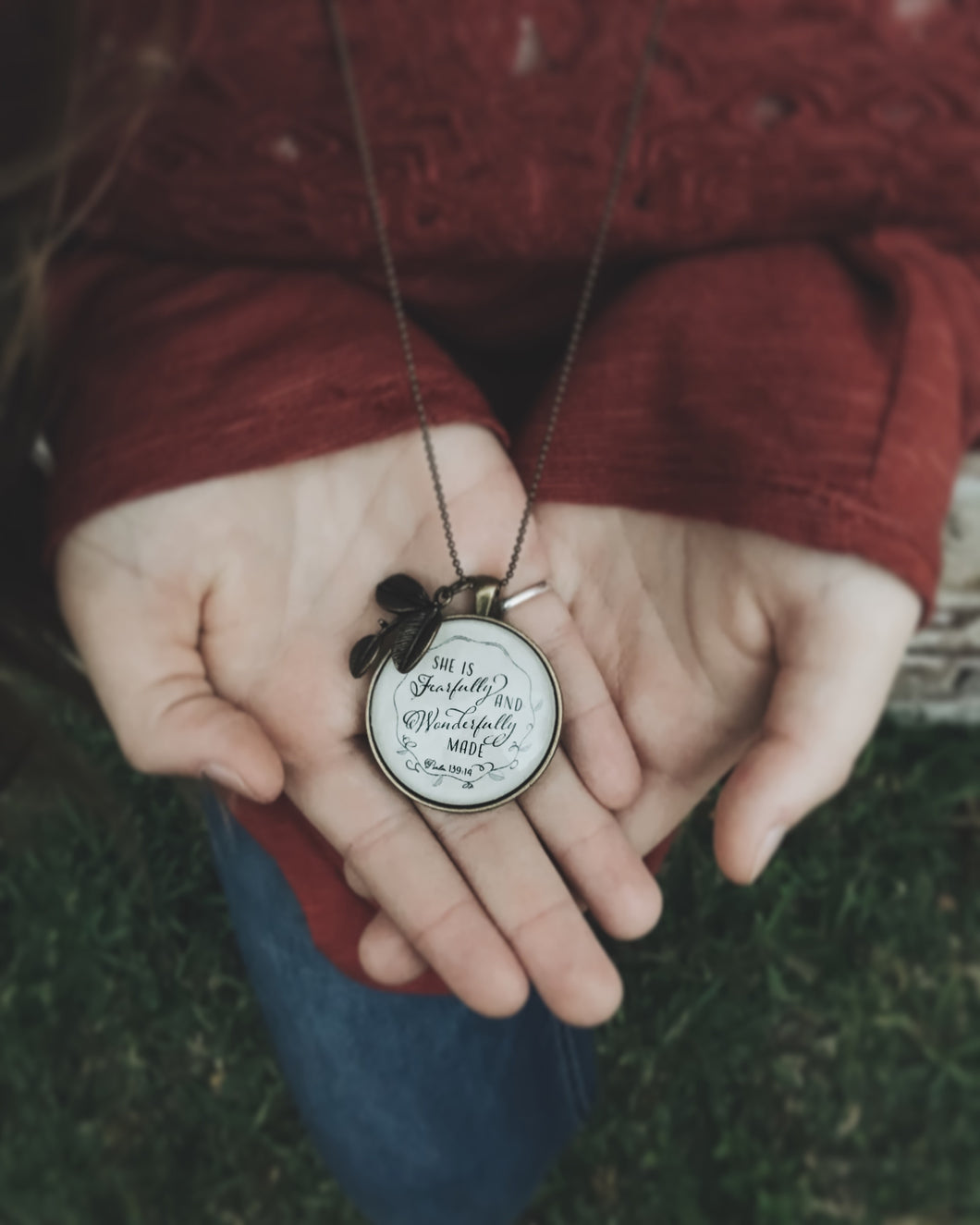 Fearfully & Wonderfully Made Necklace, Psalm 139:14