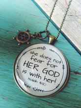 She Does Not Fear Her God is with Her Necklace, Isaiah 41:10