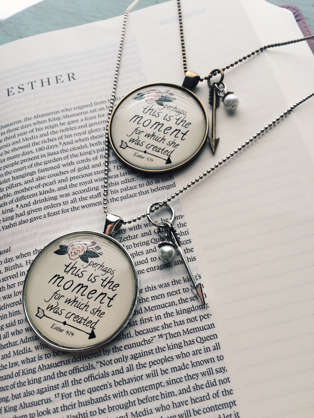 This is the Moment She Was Created Necklace, Esther 4:14