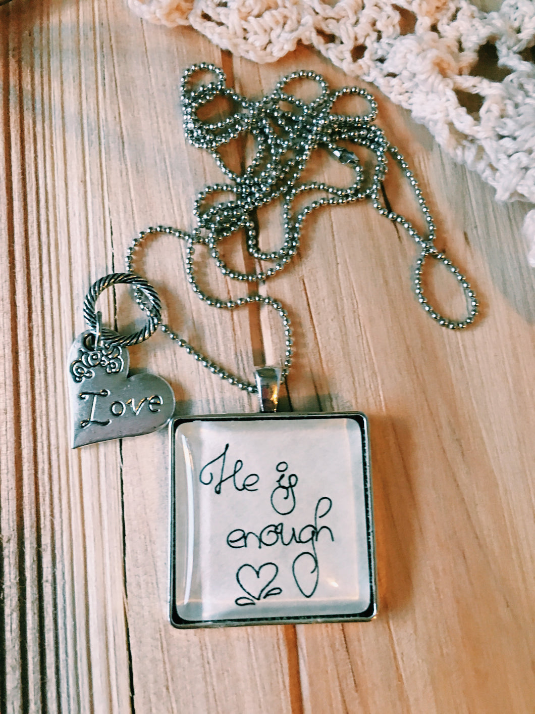 He is Enough Necklace