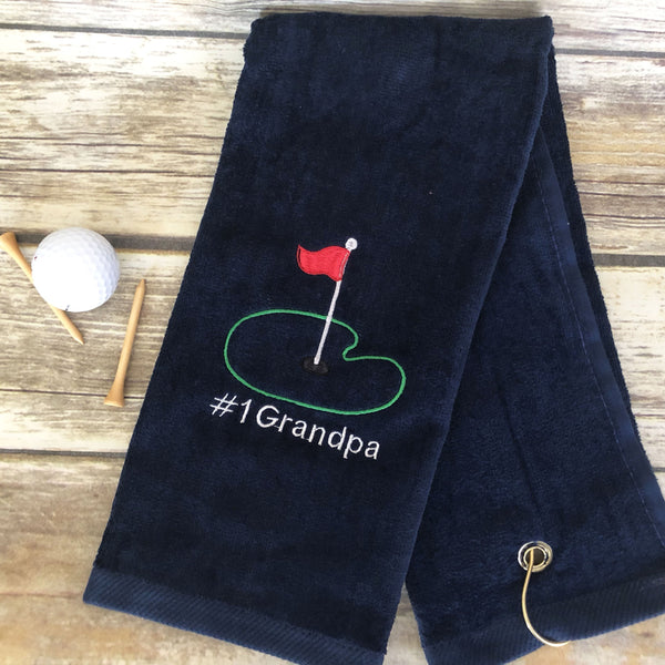 #1 Grandpa Golf Towel-AlfonsoDesigns