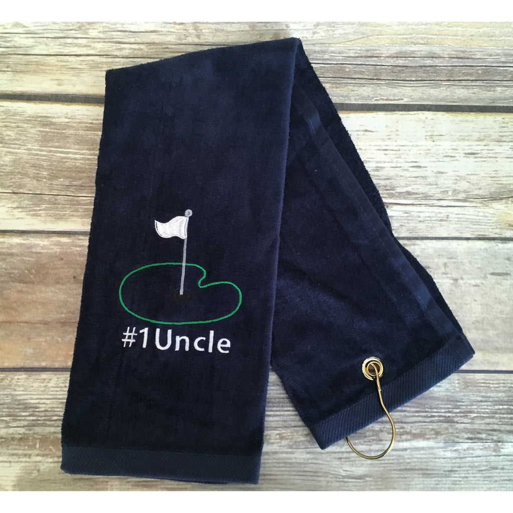 #1 Uncle Golf Towel-AlfonsoDesigns