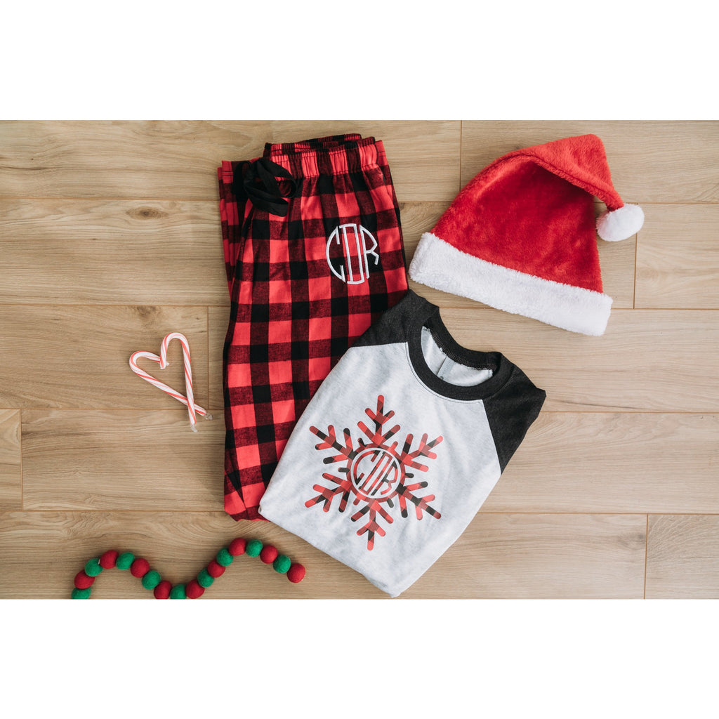 Monogrammed Buffalo Plaid Pajamas-AlfonsoDesigns