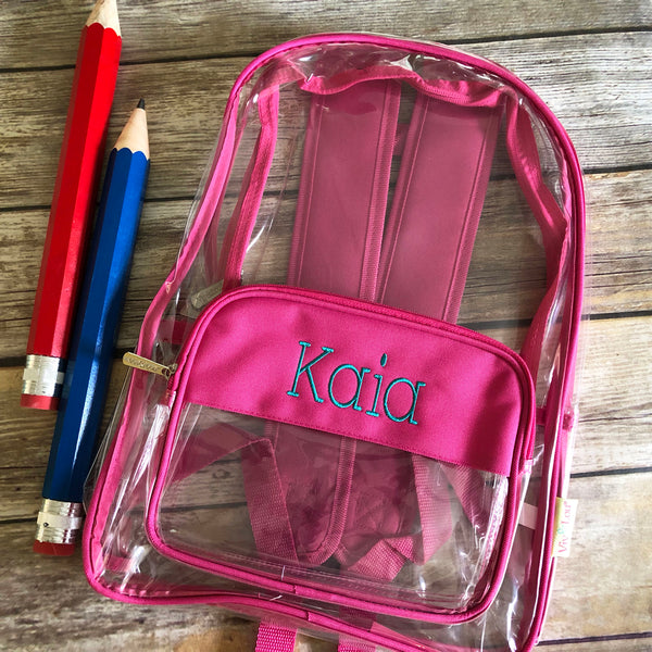 Personalized Clear Backpack-AlfonsoDesigns