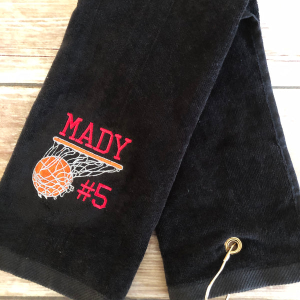 Personalized Basketball Towel-AlfonsoDesigns